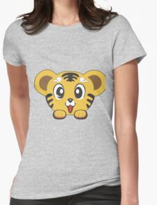 cat cute Womens Fitted T-Shirt