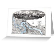 Vicksburg-Fortifications map-Mississippi-1863 Greeting Card
