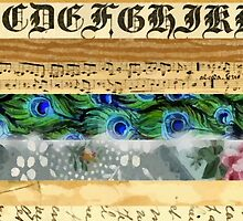 Peacock Feathers, Flowers, Leaves, Music Notes  by sitnica