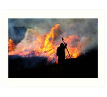 Heather Burning - Yorkshire Dales Art Print