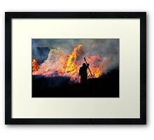 Heather Burning - Yorkshire Dales Framed Print