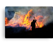 Heather Burning - Yorkshire Dales Canvas Print