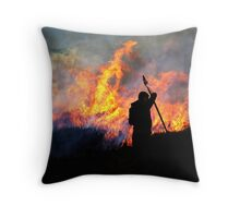 Heather Burning - Yorkshire Dales Throw Pillow
