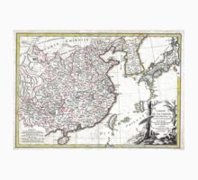 Map of China, Korea, Japan and Formosa - Bonne - 1770 Kids Tee