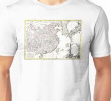 Map of China, Korea, Japan and Formosa - Bonne - 1770 Unisex T-Shirt