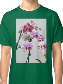 Purple Orchid on white background Classic T-Shirt
