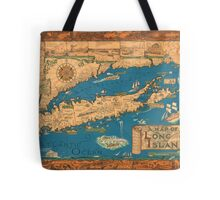 1953 Long Island map - special gift idea Tote Bag