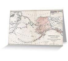 Northwestern America - Alaska - 1867 Greeting Card