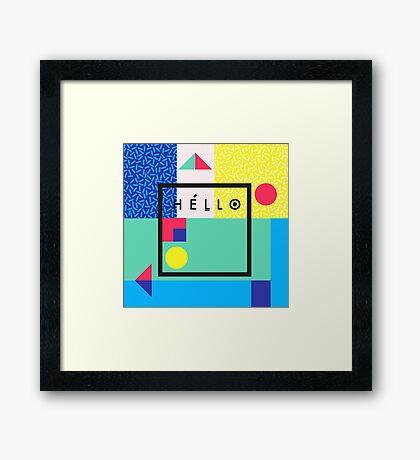 Hello colors Framed Print