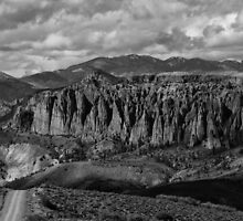 Dillon Pinnacles In Black And White by Gary Benson