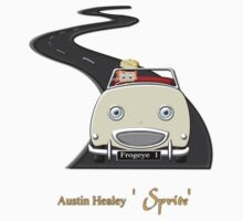 Austin Healey (frogeye) 'Sprite' T-shirt by Dennis Melling