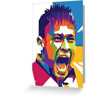 World Cup Edition - Neymar in WPAP Greeting Card