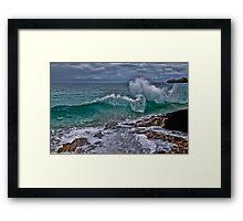 Panama. Bocas del Toro. Red Frog Beach. Crashing Waves. Framed Print