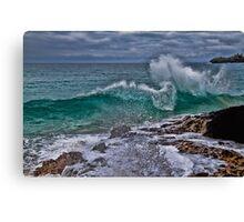 Panama. Bocas del Toro. Red Frog Beach. Crashing Waves. Canvas Print