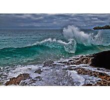Panama. Bocas del Toro. Red Frog Beach. Crashing Waves. Photographic Print