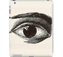 Cool Black and White Eye iPad Case/Skin
