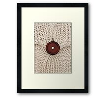 On the Button Framed Print