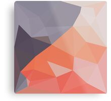 Indian Red Abstract Low Polygon Background Metal Print