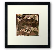 Sienna Abstract Low Polygon Background Framed Print