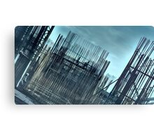Steel Construction Sky Metal Print