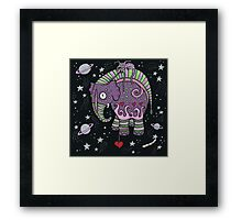 Interstellar Elephant Print Framed Print