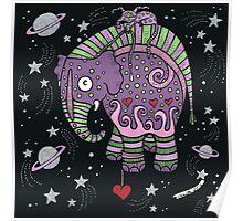 Interstellar Elephant Print Poster