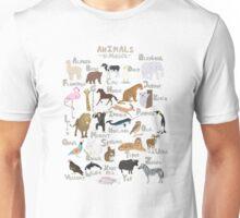Animals Alphabet Unisex T-Shirt