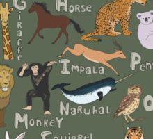 Animals Alphabet Sticker