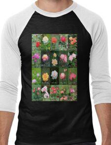 June Roses Garden Collage Men's Baseball ¾ T-Shirt