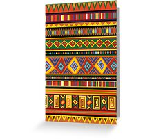 Ethnic Colorful Pattern Africa Art Greeting Card