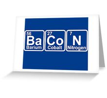 Bacon periodic table Greeting Card