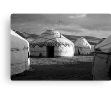 Yurts Canvas Print