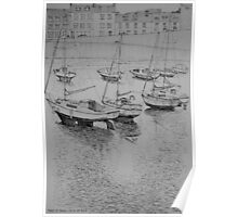 Afternoon ebb tide in Port St Mary harbour Poster
