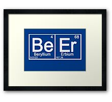 Beer in periodic table Framed Print