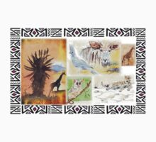 African collage - Ethnic series Kids Tee
