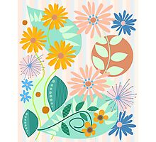 Decorative Fantasy Flowers design Photographic Print