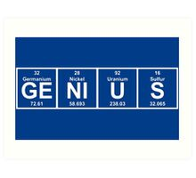 Funny smart genius Art Print
