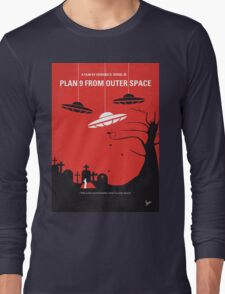No518 My Plan 9 From Outer Space minimal movie poster Long Sleeve T-Shirt