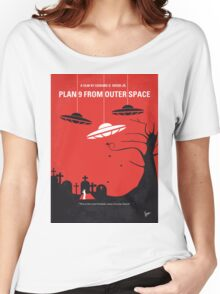 No518 My Plan 9 From Outer Space minimal movie poster Women's Relaxed Fit T-Shirt