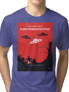 No518 My Plan 9 From Outer Space minimal movie poster Tri-blend T-Shirt