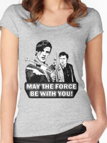 Use the Force, Doctor Jedi (Cartoon) Women's Fitted Scoop T-Shirt