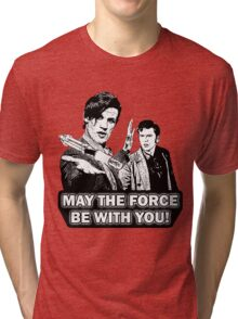 Use the Force, Doctor Jedi (Cartoon) Tri-blend T-Shirt