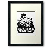 Use the Force, Doctor Jedi (Cartoon) Framed Print