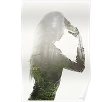 woman  double exposure Poster