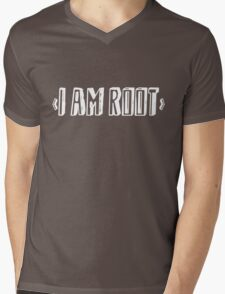 Computer qutoe: I am root Mens V-Neck T-Shirt