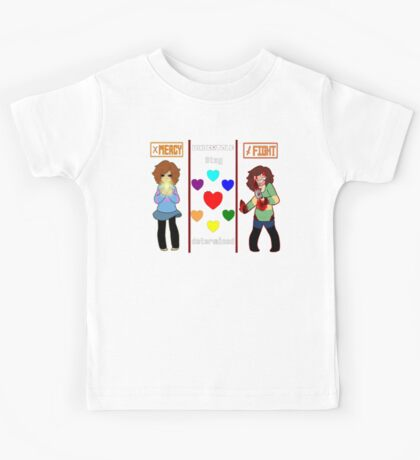Frisk and Chara, Mercy or fight Kids Tee