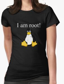 Linux quote: tux is root Womens Fitted T-Shirt