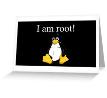 Linux quote: tux is root Greeting Card