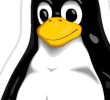 Linux quote: tux is root Sticker