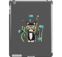 Underwater diving cat with fish iPad Case/Skin